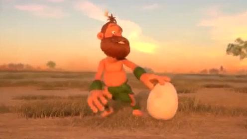 幽默动画:砸不破的恐龙蛋 原始人都快急疯了!
