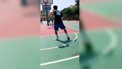 篮球:天气真好合适打球