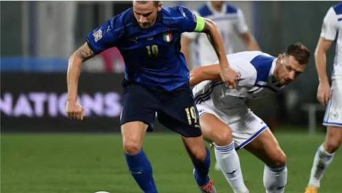欧国联赛 意大利1-1波黑11连胜记录被终结,哲科破门 舒尼奇扳平比分
