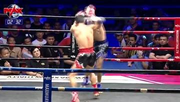泰拳比赛中,体能无限的选手是最恐怖的,你永远也不知道他下一拳打的有多重