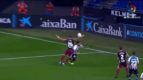 西班牙人西乙比赛集锦,武磊状态火爆传射建功,包抄抢点破门太精彩!