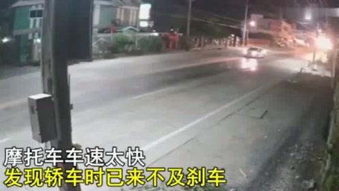 刹不住的摩托车,这车祸到底该谁来负责,视频拍下司机无助的一幕!