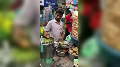 印度人必吃的美食,看完你敢吃吗,长见识了!
