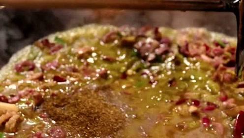 黔东南最有特色的火锅,牛肉配牛瘪,一般人都不敢下口