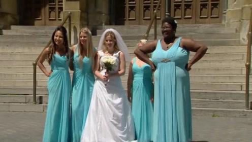 街头恶搞:偶遇新娘和伴娘打架,路人都惊呆了