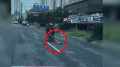 两男子骑电瓶车拖行大狗2公里 画面极其残忍令人愤怒