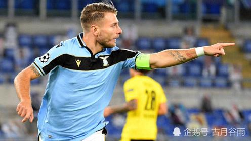 欧冠,拉齐奥3-1击败多特蒙德,因莫比莱首开记录