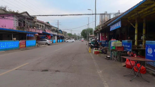 实拍安徽淮南谢家集新中村,沿矿路上最热闹的一段,有学校和美食