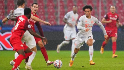欧冠-莱万2球萨内破门 拜仁6-2逆转迎跨季14连胜
