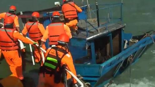 """扣押现??!台当局称大陆渔船""""越界""""检查遭拒 强行登船逮捕4人"""