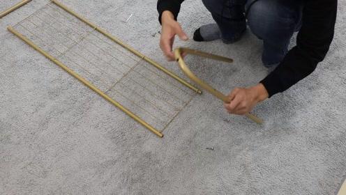 金色晾衣架 单层 安装视频