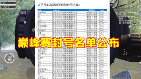 和平精英:光子公布巅峰赛封号名单,涉及40名玩家,拍手叫好!
