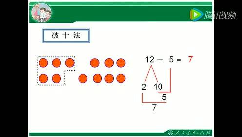 一年级数学下册 20以内退位减法_例题Flash动画1