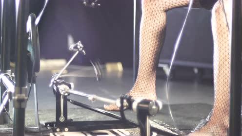 NUX乐器代言人雅妍演示DM-4电子鼓