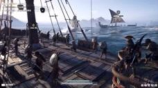 刺客信条奥德赛:面对敌众我寡的海战,战船直接被撞毁