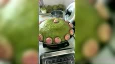 北方待客菜豆角盖被,看我大姑又做了,这是她的拿手菜。
