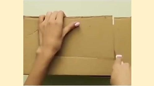 生活小窍门:纸箱变衣橱