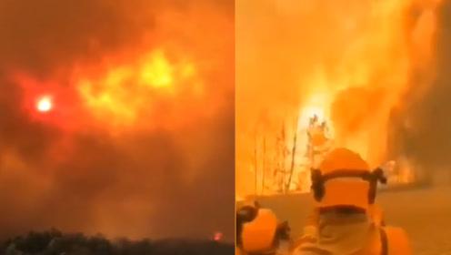 西昌森林大火蔓延危及市区 885名消防员驰援 撤离火场5公里内居民