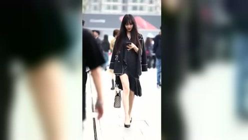 穿OL装的女生看上去很有气质