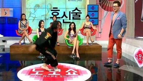 这是我第一次看韩国的综艺节目,现场教格斗术