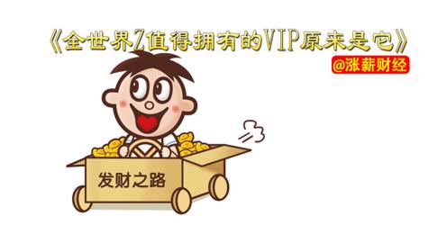 全世界最值得拥有的VIP原来是它!