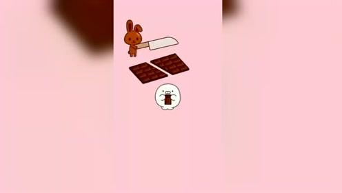 图形不变,巧克力多出来一块,赶紧吃了吧!