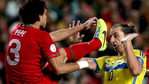 武僧佩佩的足球冲突集锦,一个动作吓哭内马尔,狠起来连队友都踹
