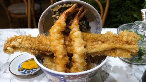 韩国超火的天妇罗盖饭!一口一个嘎嘣脆,淋上酱汁孩子的最爱!