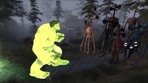 【GMOD】大动画:单挑七种与众不同的警笛头,绿巨人能赢吗?