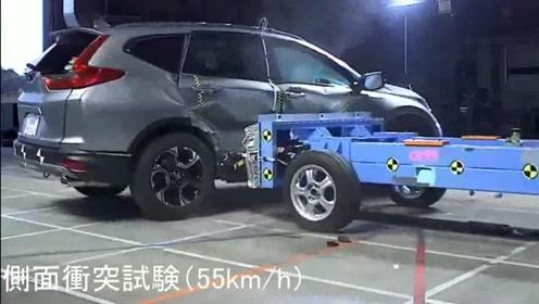 汽车碰撞测试:2019款本田CRV碰撞测试视频,了解安全性能后买不买做个参考!