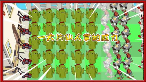 植物大战僵尸搞笑动画:满地图的仙人掌放在一