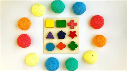 萌宝用太空沙捏出各种形状,小朋友们认识这些