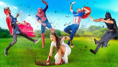 超级英雄的婚礼,蜘蛛侠经典动作接吻,雷神业