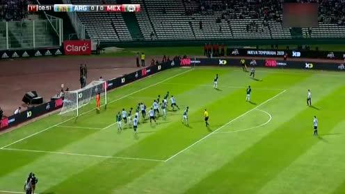【集锦】热身赛阿根廷2-0墨西哥 铁卫建功迪巴拉送妙传