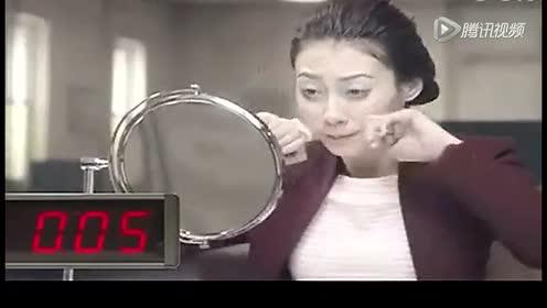 搞笑创意广告  快速化妆法