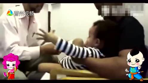 219外国一个医生给宝宝打针,逗孩高手啊