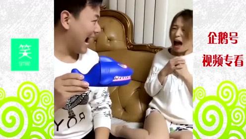 搞笑视频:囧人囧事,咬人的鲨鱼