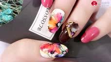 时尚多彩 优雅晕染花