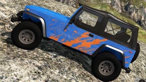 《BeamNG》沙盒模拟游戏,4X4吉普车,一台无情的