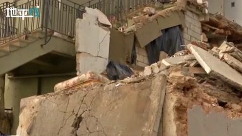 贝鲁特爆炸后一周仍旧遍地废墟 居民无奈哭诉: