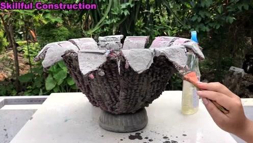来自水泥的创新产品-如何在家做一个简单的花盆