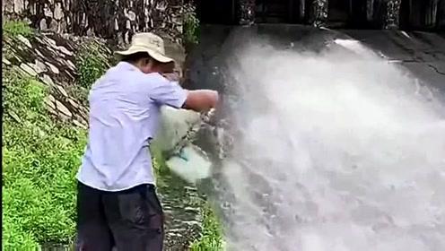 急水打静处静水打急处,这就是撒网的经验,看完喜欢捕鱼的你学会了吗