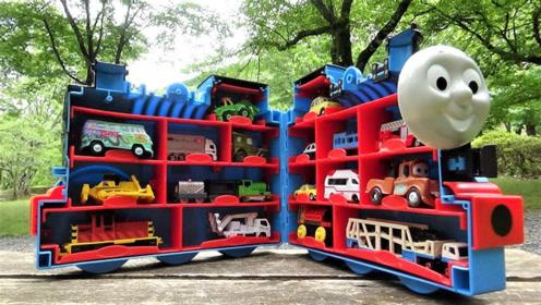 托马斯手提箱来到公园寻找小火车和小汽车玩具