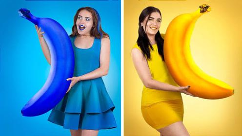 香蕉挑战赛:国外美女花式恶搞,各种玩法让人
