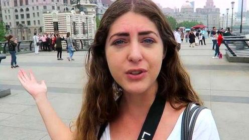 美国姑娘游中国,大街上看到这一幕直言:这在美国根本不可能?
