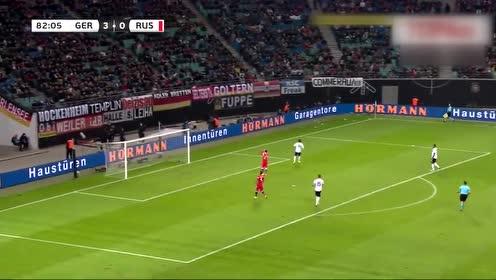 【集锦】德国3-0俄罗斯 格纳布里传射萨内聚勒破门