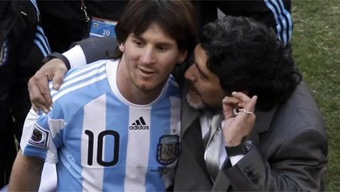 珍贵画面!当年马拉多纳搭档梅西踢网式足球