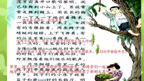 三年级语文上册4 槐乡的孩子