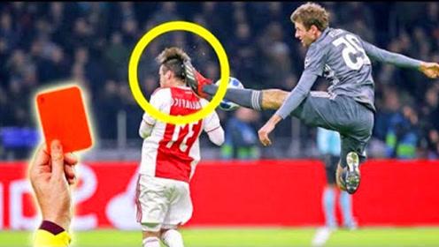 足坛2018最新红牌合集,把对手直接踢伤是带着任务上场