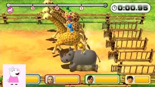 马里奥游戏:动物赛跑比赛,谁能最快跑到终点